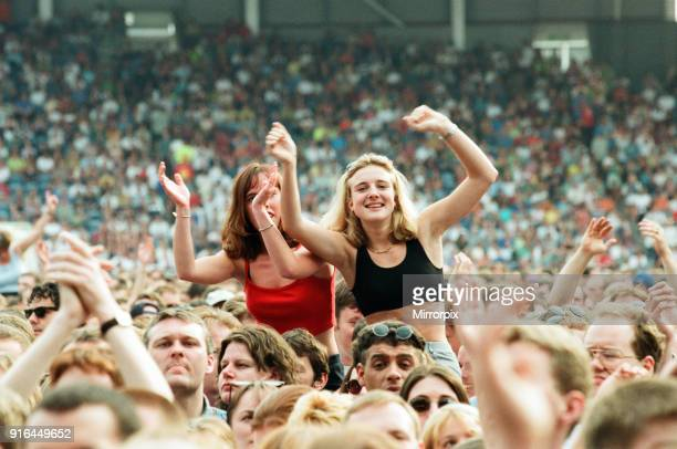 The Beautiful South performing live at the Alfred McAlpine Stadium, 12th July 1997.