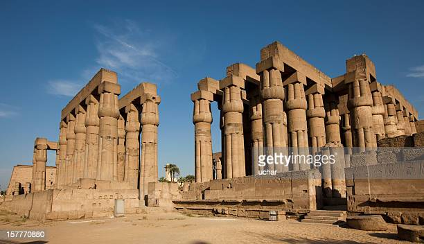 The beautiful, tall pillars of the Luxor Colonnade