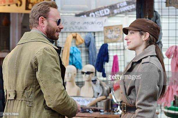 DEFIANCE The Beauty of Our Weapons Episode 307 Pictured Ian Ziering as Conrad Von Bach Anna Hopkins as Jessica Berlin Rainer