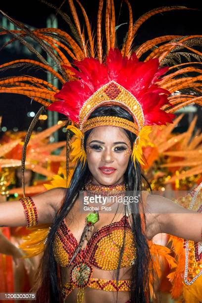 the beauty of the brazilian carnaval - brazilian carnival stock pictures, royalty-free photos & images