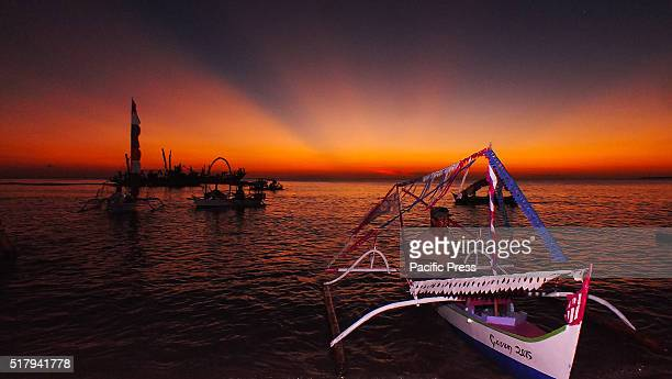 The beauty of the sky Beo, Talaud looks very beautiful at sunset. The beauty of it is more perfect because it coincided with the festival of...