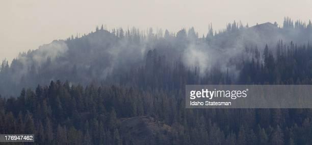 The Beaver Creek fire burns near Ketchum Idaho Monday August 19 2013