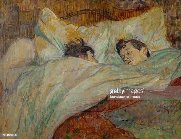The bed 1892 Cardboard on parquet woodboard 54 x 705 cm RF 193738 [Das Bett 1892 54 x 705 cm R