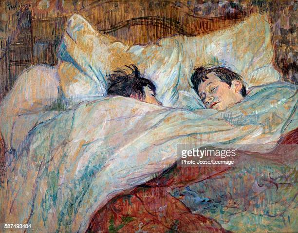 The bed Two sleeping children Oil on cardboard by Henri de ToulouseLautrec 1892 054 x 07 m Orsay Museum Paris