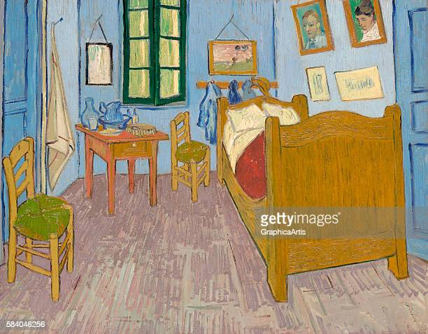 The Bedroom also known as Van Gogh's Bedroom at Arles September 1889 From the Musee d'Orsay Paris Oil on canvas