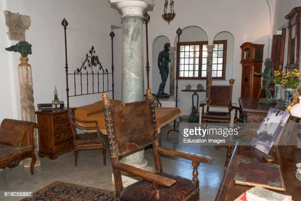 The Bedroom And Study Of Axel Munthe In His Home Villa San Michele On The Island Of Capri Italy