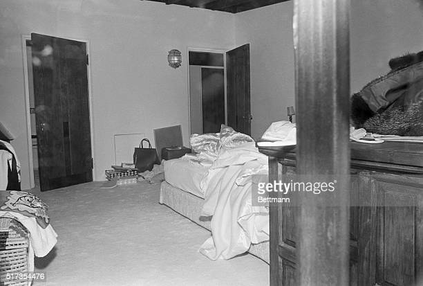 The bedroom in which Marilyn Monroe was found dead of a barbituate overdose on August 6 1962