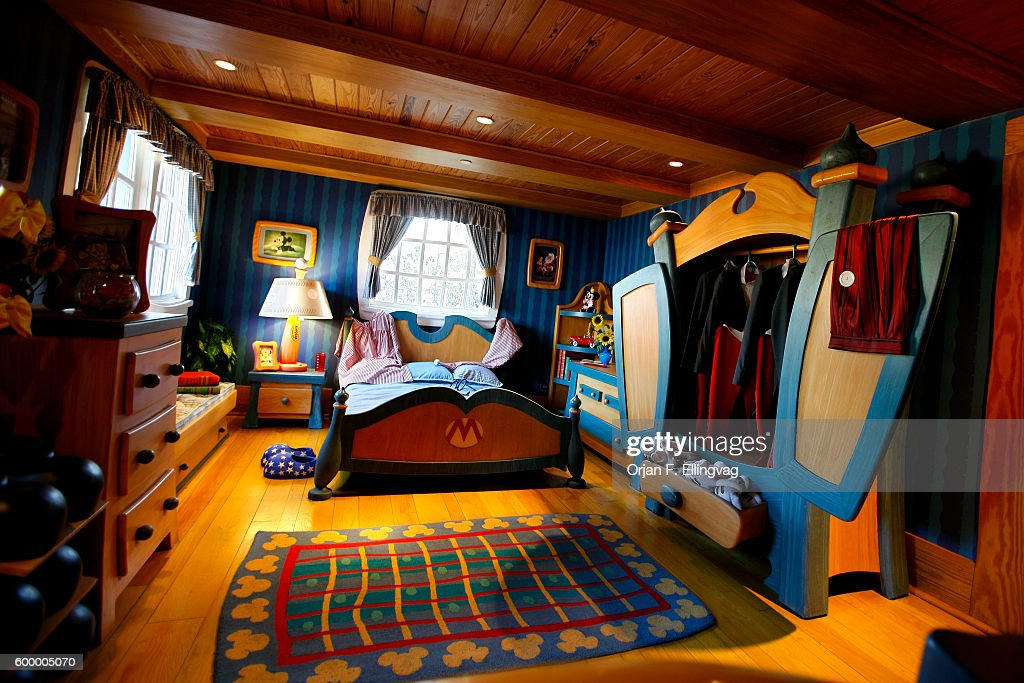 Usa business disney world pictures getty images the bedroom inside the mickey mouse residence at the magic kingdom part of disney world publicscrutiny Gallery