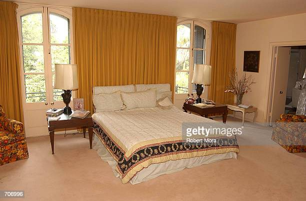 The bedroom of deceased actor Vincent Minnelli and Lee Minnelli is shown March 28, 2002 in Beverly Hills, CA.