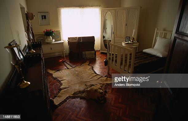 The bedroom of Karen Blixen Museum, the old farmhouse where the author of 'Out of Africa' lived from 1914 to 1931.