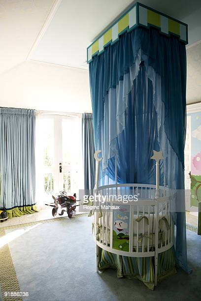 The bedroom of Max Liron Bratman son of Christina Aguilera and her husband Jordan Bratman taken at a home photo shoot on February 9 2008 in Los...
