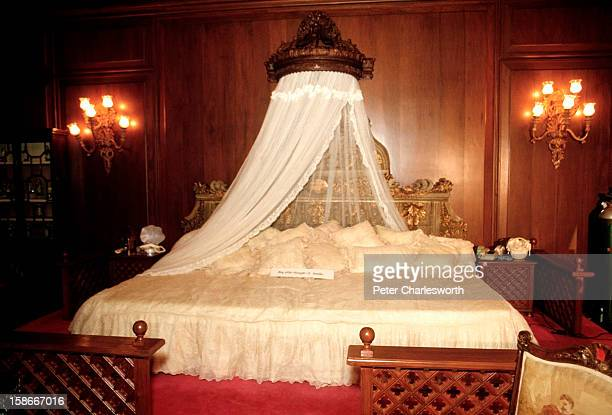 The bedroom of President Ferdinand Marcos and his wife, Imelda inside Malacanang Palace . After the President of the Philippines fled the country on...