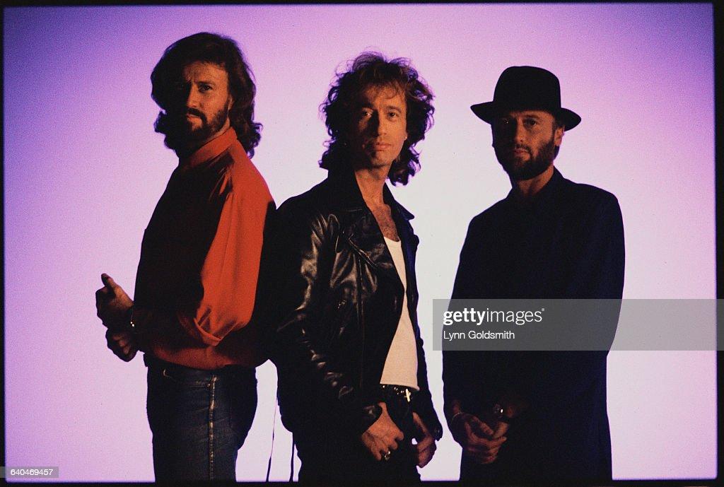 Barry Gibb, Robin Gibb, and Maurice Gibb.