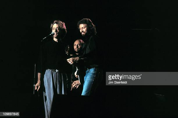The Bee Gees LR perform at Riverfrest in St Paul Minnesota in 1989