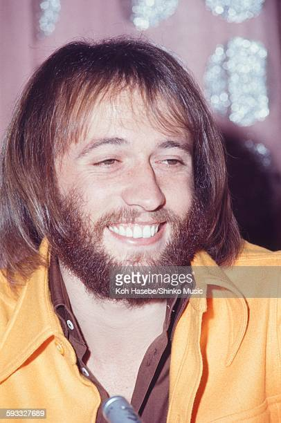 The Bee Gees Maurice Gibb at press conference, Tokyo, March 1972.