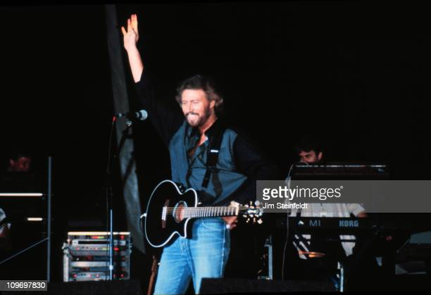 The Bee Gees perform at Riverfrest in St Paul Minnesota in 1989