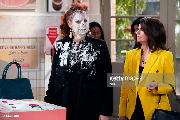 WILL GRACE 'The Beefcake and the Cake Beef' Episode 114 Pictured Debra Messing as Grace Adler Megan Mullally as Karen Walker