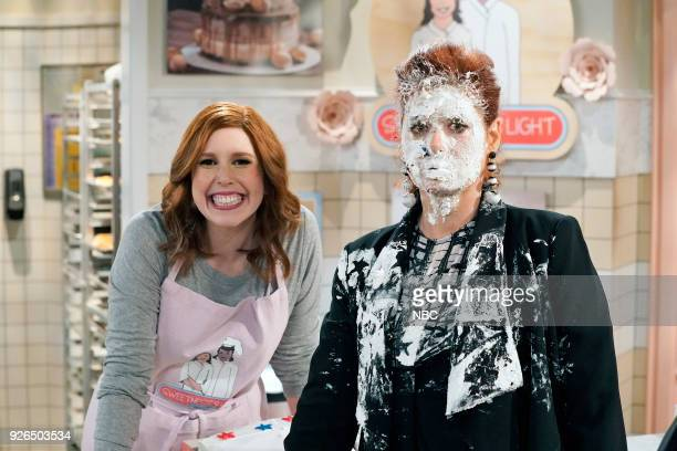 WILL GRACE 'The Beefcake and the Cake Beef' Episode 114 Pictured Vanessa Bayer as Amy Debra Messing as Grace Adler