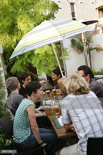 The Beer Garden at The Annandale Hotel on a Saturday afternoon 26 November 2006 SHD Picture by FIONA MORRIS