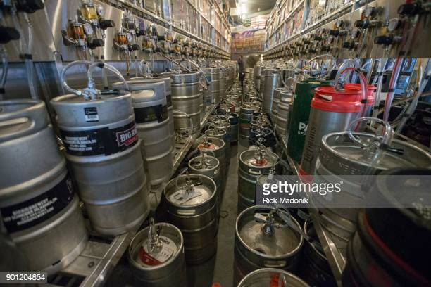 The beer room where kegs are attached to the different taps The Craft Beer Market recently opened at 1 Adelaide Street East features 165 taps of beer...