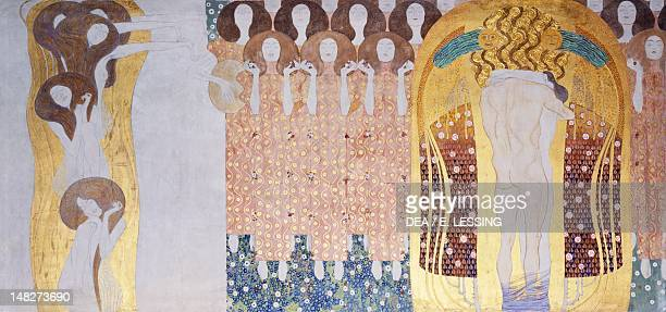 The Beethoven Frieze The longing for happiness by Gustav Klimt Vienna Österreichischer Galerie Belvedere