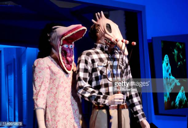 The Beetlejuice installation is seen at Ultra Productions and Warner Bros Consumer Products Special Preview of I Like Scary Movies an Interactive Art...