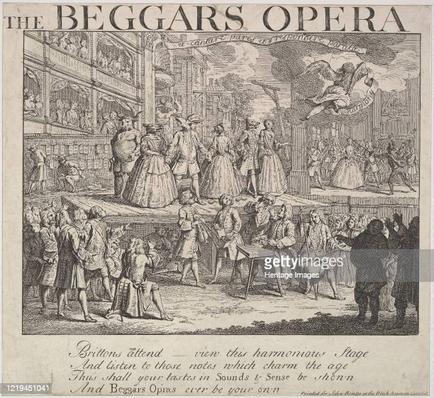 The Beggars Opera, 1728. Formerly attributed to William Hogarth. Artist Unknown.