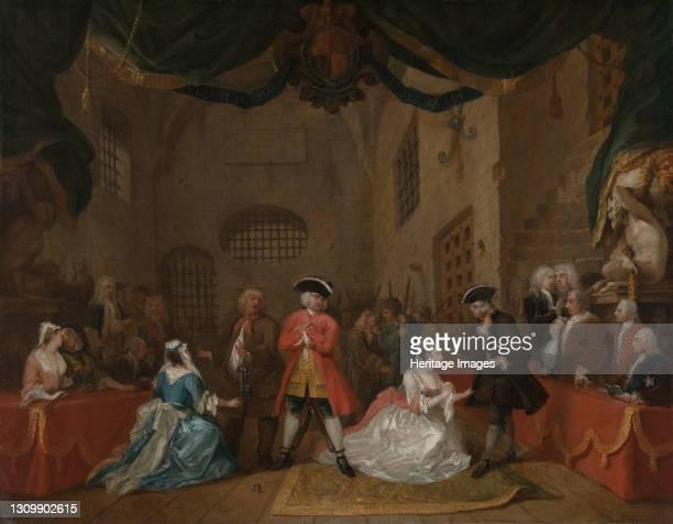 The Beggar's Opera;The Beggar's Opera, III, xi;Scene from the Beggar's Opera, 1729. Artist William Hogarth. .
