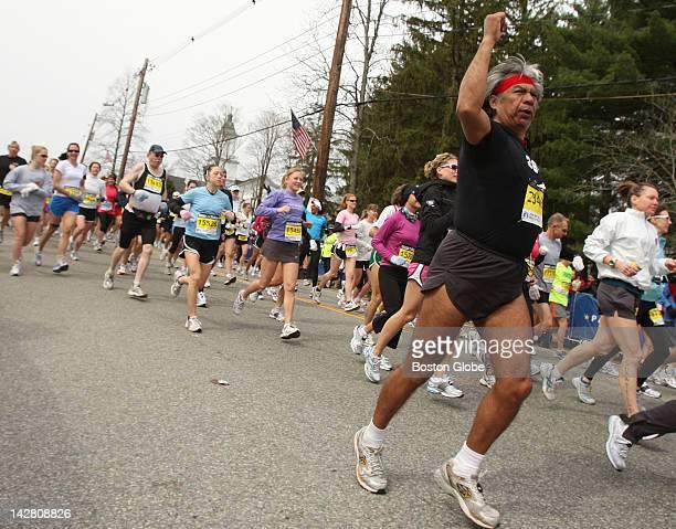 The beginning of the 113th Boston Marathon in Hopkinton Mass on April 20 2009