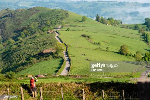 The beginning of the French way crossing the Pyrenees to enter in Spain on 25 July 2018 The Camino de Santiago is a large network of ancient pilgrim...