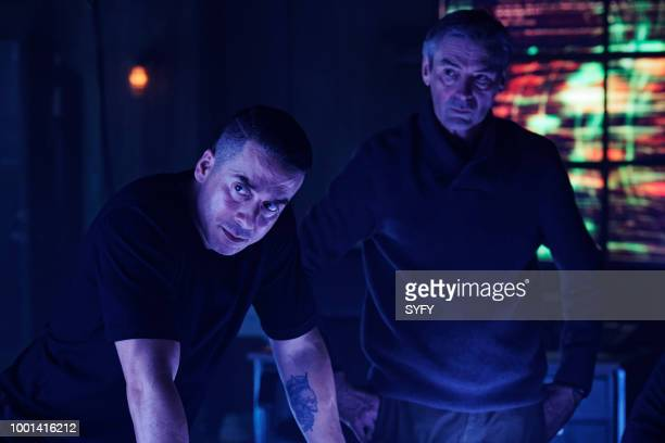 12 MONKEYS 'The Beginning Part I' Episode 410 Pictured Kirk Acevedo as Ramse Andrew Gillies as Adler