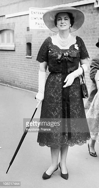 The Begum Aga Khan Yvette Labrousse In Ascot In 1958