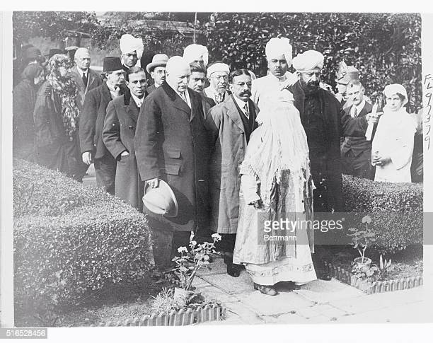 The Begum of Bhopal the only woman ruler in Asia visited the Mohammedan mosque at Woking near London England the other day Photo shows the Begum of...
