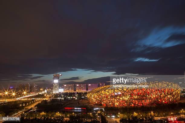 the beijing national stadium, china - 国立オリンピック競技場 ストックフォトと画像