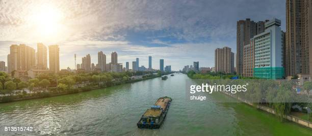 The beijing-hangzhou grand canal in wuxi section of the morning
