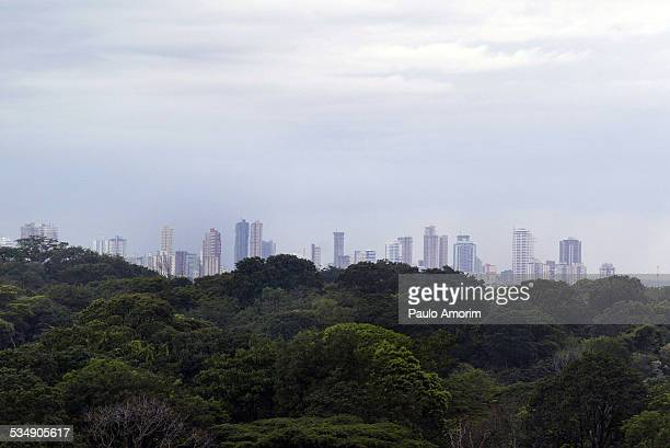 The Belem city at Amazon forest