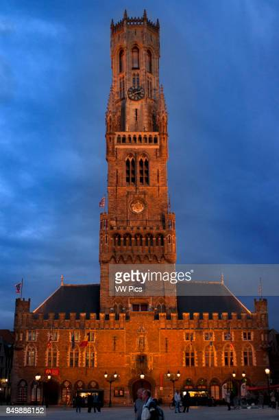 The Belfry and the Cloth Hall by night The Market square is dominated by the cloth hall and the 83 meter high Belfry tower one of the symbols of the...