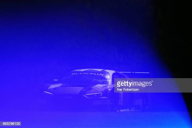 The Belgian Audi Club Team WRT Audi R8 of Dries Vanthoor and Will Stevens drives during the Blancpain GT Series Sprint Cup at Brands Hatch on May 6th...