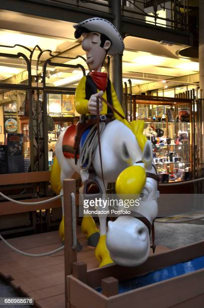 The Belgian Comic Strip Center Lucky Luke the fictional cowboy of the comics series created by Belgian cartoonist Morris Brussels Belgium 5th...