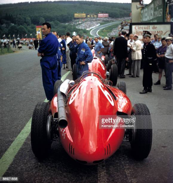 The Belgian Grand Prix SpaFrancorchamps June 20 1954 A wonderful color shot from practice for the Belgian Grand Prix Note the expressions of the...