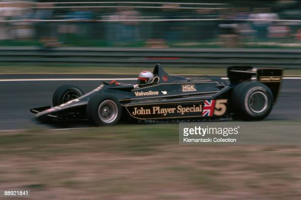 The Belgian Grand Prix; Zolder, May 21, 1978. Mario Andretti on his way to a win in the Lotus 79, taking another step toward his World Championship.