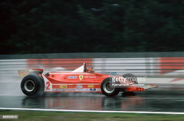 The Belgian Grand Prix Zolder May 4 1980 Gilles Villeneuve in wet conditions with the Ferrari 312T/5 He would finish sixth