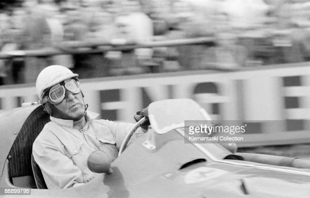 The Belgian Grand PrixSpaFrancorchamps June 5 1955 The Doctor in his office Farina rounds the La Source hairpin at the top of the pit straight The...