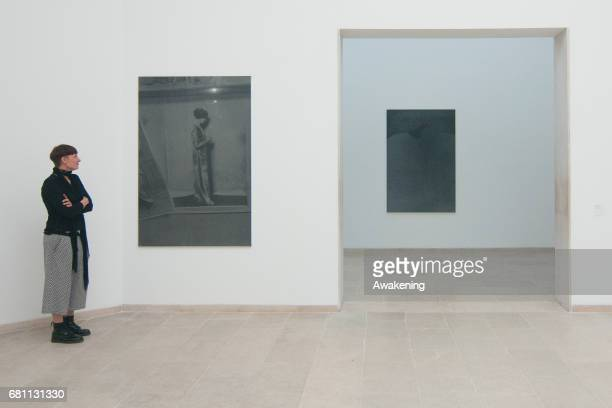 The Belgian pavilion presenting Dirk Braeckman of Dirk Braeckman is seen at Giardini during the 57th Internaztional Art Exhibition of La Biennale di...