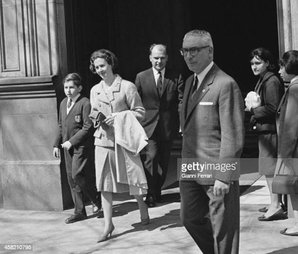 The Belgian Queen Fabiola leaves her home in Madrid Madrid Spain