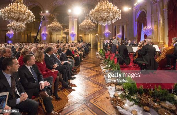 The Belgian Royal Family attends Christmas Concert at the Royal Palace, on December 20, 2017 at the Royal Palace in Brussels, Belgium.