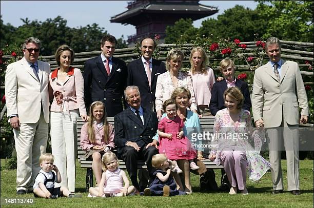 The Belgian Royal Family in the Castle of Laeken King Albert II Queen Paola Queen Fabiola Prince Philip Princess Mathilde Prince Lorenz Princess...