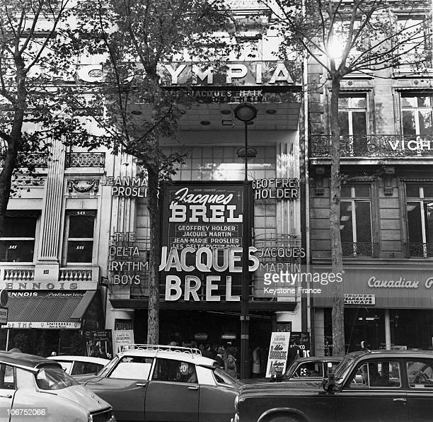 The Belgian Singer Jacques Brel Headlining At The Olympia On October 28Th 1964