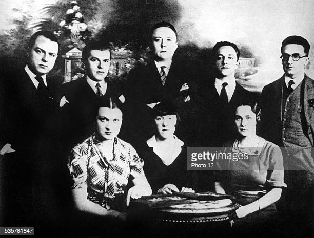 The Belgian surrealists Standing from the l to the r ELT Nesens René Magritte Louis Scutenaire André Souris and Paul Nongé Sitting from the l to the...
