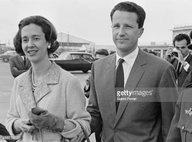 The Belgians Royals Baudouin and Fabiola during a visit in Sevilla Seville, Andalusia, Spain. .